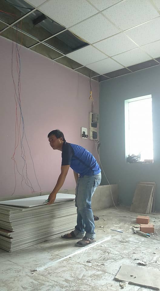 Công trình thi công thạch cao,Sửa chữa nhà,Sơn nhà tại 261 Lê văn lương q7 đã hoàn thiện
