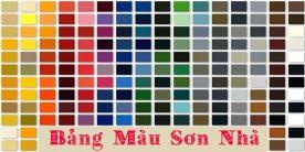 Bảng màu sơn nhà đẹp nhất – Tư vấn màu sơn nhà đẹp