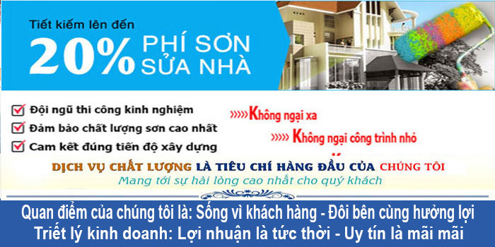 Dịch vụ thợ sơn nhà tại quận Tân Phú đẹp