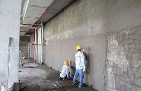 Đội thợ xây trát tường tại Phú Quốc