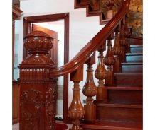 Chuyên nhận sơn lại cầu thang gỗ
