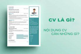 CV là gì? Trong CV cần có những thông tin gì?