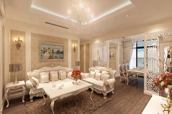 Phòng khách bắt mắt hơn với phong cách cổ điển
