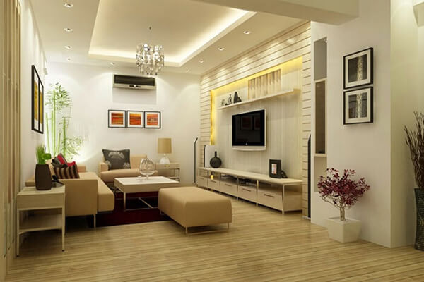 Thiết kế phòng khách đẹp theo phong cách đơn giản