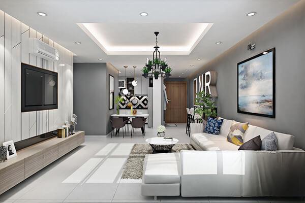 Phòng khách đẹp hiện đại