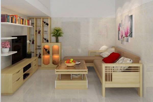 Phòng khách tối giản cho không gian nhỏ, hẹp