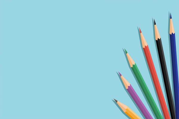Hình nền những chiếc bút chì màu sinh động