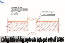 Chống thấm cổ ống xuyên sàn hiệu quả triệt để 100%