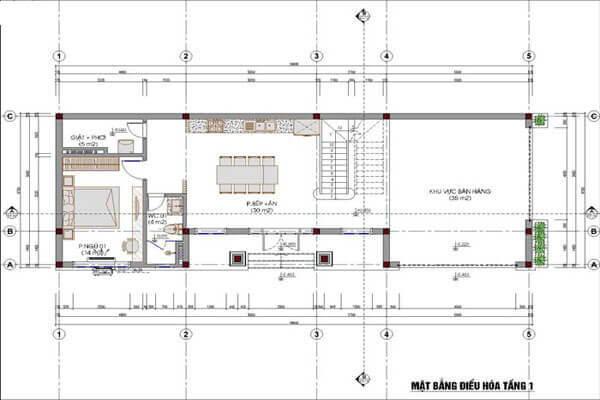 Sơ đồ thiết kế hệ thống điện điều hòa của tầng 1