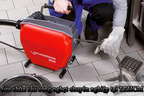 Sửa chữa cầu cống nghẹt chuyên nghiệp, giá rẻ, uy tín tại TP.HCM