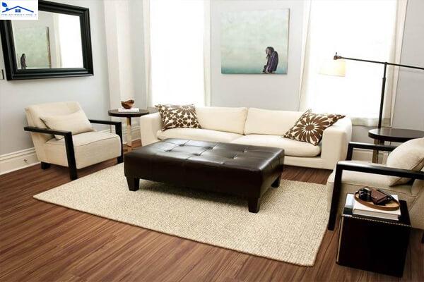 Thảm sofa đơn sắc
