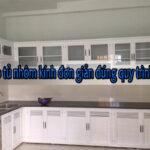 Cách lắp tủ nhôm kính đơn giản đúng quy trình tại nhà