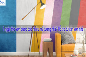1 ngày thợ sơn được bao nhiêu m2 tường nhà? Hỗ trợ tư vấn sơn nhà