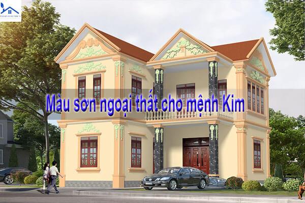 Màu sơn ngoại thất cho mệnh Kim